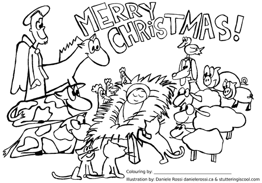 merry christmas - Amish Children Coloring Book Pages