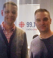 Photo of Daniele Rossi with Matt Galloway, host of CBC Metro Morning