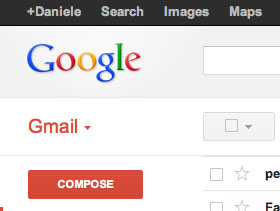Part of the gmail interface