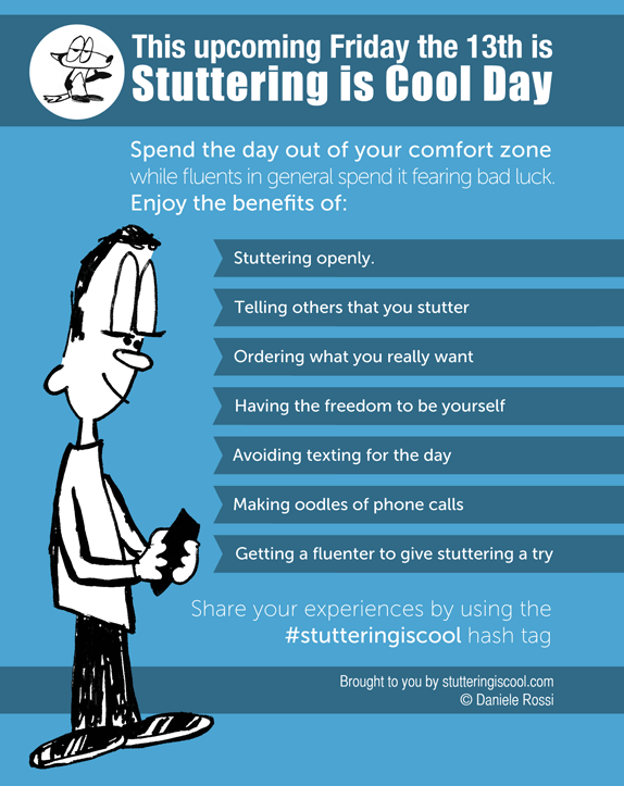 The infographic I made for Stuttering is Cool Day