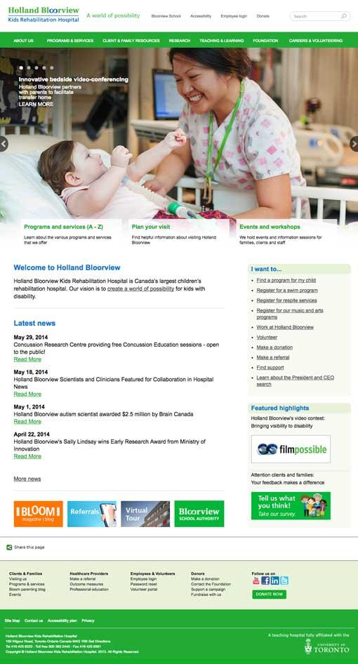 screen shot of a better looking website